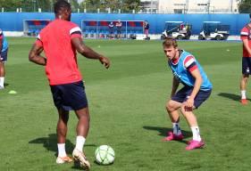 Absent de l'entraînement ces 10 derniers jours, Jan Repas est bien présent pour préparer le prochain match