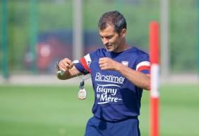 Comme depuis le début de la préparation, Rui Almeida a décidé d'évoluer en 5-3-2 pour ce Trophée des Normands face au Havre