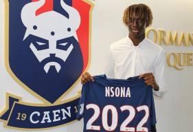 À 17 ans, Kelian Nsona a paraphé son premier contrat professionnel avec le Stade Malherbe Caen pour les trois prochaines saisons
