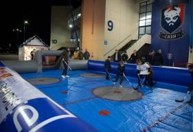 La patinoire gonflable sera présente sur l'esplanade avant la rencontre face au GF38 demain soir