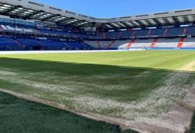 Des travaux d'une durée de six semaines sont actuellement en cours sur la pelouse du Stade Michel d'Ornano