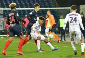 Nicholas Gioacchini a eu l'occasion de donner deux buts d'avance au Stade Malherbe quelques secondes avant l'égalisation ©️ Berrichonne Châteauroux