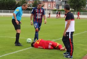 Enzo Crivelli s'est montré actif à la pointe de l'attaque et impliqué dans les deux buts inscrits par le Stade Malherbe