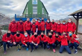 Les joueuses du Stade Malherbe Caen dans le froid de la Suisse Normande dimanche matin