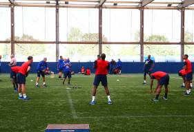 Après avoir affronté le Paris FC samedi en fin de journée, les joueurs du Stade Malherbe débutent leur semaine par deux séances ce lundi