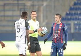 Jessy Pi et les Caennais ont dû s'incliner (0-2) face au Paris FC après quatre matchs sans défaite