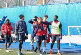 Les joueurs du Stade Malherbe Caen pourraient obtenir leur maintien en Ligue 2 BKT samedi soir face au Clermont Foot
