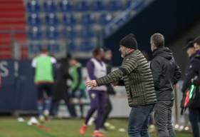 Pascal Dupraz a regretté le but encaissé juste avant la mi-temps face au Toulouse Football Club hier soir