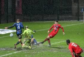 Jessy Deminguet a inscrit son quatrième but de la saison en réduisant le score face au FC Chambly