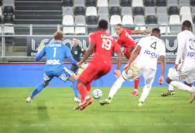 Yacine Bammou s'est procuré la meilleure occasion du Stade Malherbe Caen après une inspiration de Jessy Deminguet