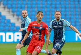Yacine Bammou a profité d'un penalty en fin de rencontre pour inscrire son quatrième but de la saison avec le SM Caen