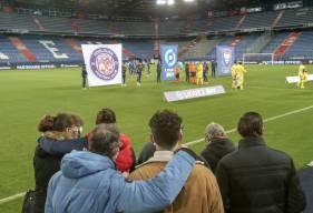 La famille de Salah Boutamine a pu assiter à la rencontre entre le Stade Malherbe Caen et le Toulouse FC hier soir