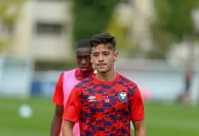 Luca Boudonnet a joué l'intégralité de la rencontre dans une position de milieu de terrain aux côtés de Jessy Pi