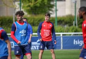 Suspendu à Toulouse, Jessy Deminguet était avec le groupe professionnel pour la reprise de l'entraînement hier après-midi