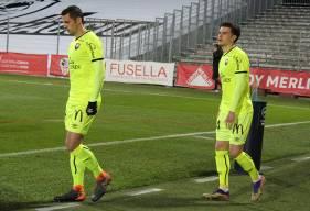 Hugo Vandermersch, Jessy Pi et les Caennais n'ont pas réussi à revenir au score face à l'AC Ajaccio
