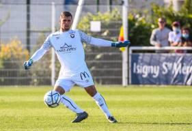 Thomas Callens gardait le but du Stade Malherbe Caen pour la seconde période de la rencontre face au Paris FC