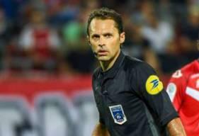 Romain Delpech a arbitré neuf rencontres de Ligue 2 BKT depuis le début de saison