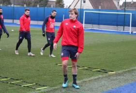 Loup Hervieu a pu reprendre l'entraînement collectif avec le reste du groupe la semaine dernière