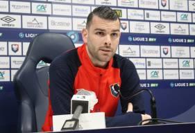 Yoann Court et Pascal Dupraz ont pris la parole devant la presse avant d'affronter le Havre AC lundi soir en Ligue 2 BKT