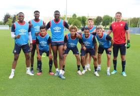 L'équipe bleue de Malik Tchokounté et Hugo Vandermersch a remporté l'une des oppositions cet après-midi
