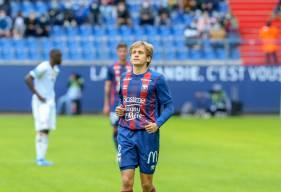 Loup Hervieu a fait sa première apparition en Ligue 2 BKT après être entré en fin de match face à l'AC Ajaccio