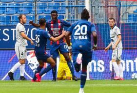 L'attaquant Caennais Malik Tchokounté a inscrit le premier but du match amical opposant le SM Caen au Havre AC