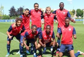 Huit des vingt-trois joueurs du Stade Malherbe Caen qui ont obtenu lors diplôme cette semaine