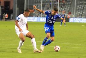 Yoël Armougom a obtenu un penalty en fin de rencontre pour obtenir le penalty afin d'égaliser face au SC Bastia