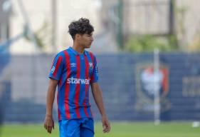 Nassim Tlemcani s'est illustré avec les U19 Nationaux en inscrivant un but face à Montfermeil hier après-midi