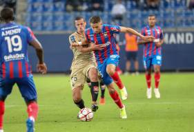 Mehdi Chahiri aurait pu inscrire son premier but avec le Stade Malherbe mais Monsieur Angoula en a décidé autrement
