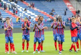 La déception des joueurs du Stade Malherbe Caen après le revers face au FC Sochaux cet après-midi