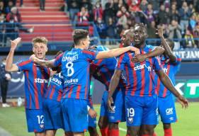 La joie des Caennais après le deuxième but inscrit face au Havre à d'Ornano hier soir