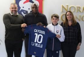 Johann Caysol aux côtés de ses parents et de Djibi Diao il y a quelques semaines
