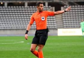 Abdelatif Kherradji a arbitré le Stade Malherbe Caen sur la pelouse des Chamois Niortais en début de saison