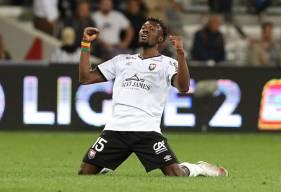 La joie de Franklin Wadja après le succès face au leader toulousain hier soir au Stadium