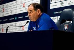 Stéphane Moulin et Aloys Fouda ont répondu aux questions de la presse locale avant le déplacement à Dunkerque