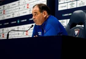 Stéphane Moulin a évoquer la réception de Valenciennes en début d'après-midi lors de la conférence de presse