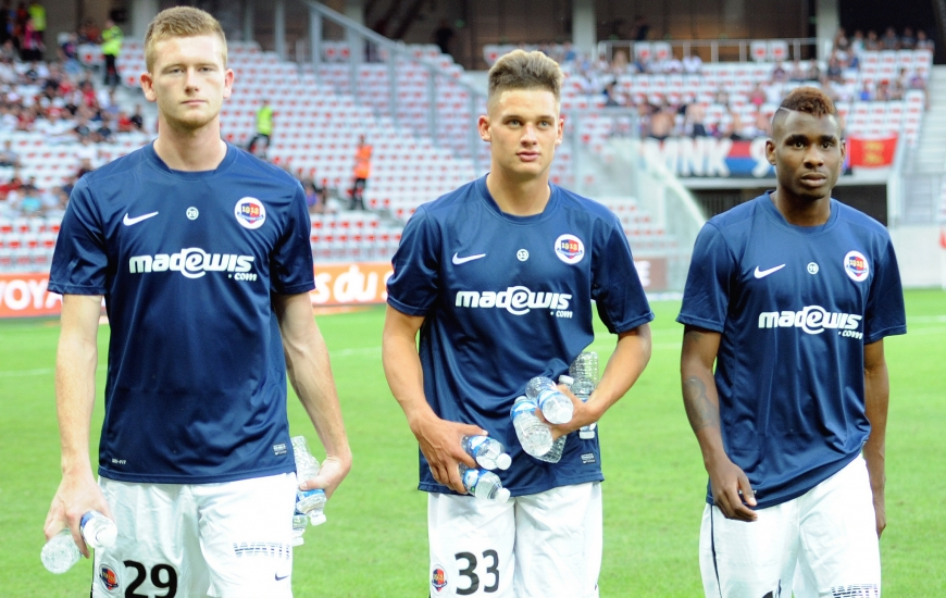 Florian Le Joncour, Valentin Voisin et Jordan Leborgne ont fêté leur première apparition dans le groupe professionnel lors du déplacement à Nice.