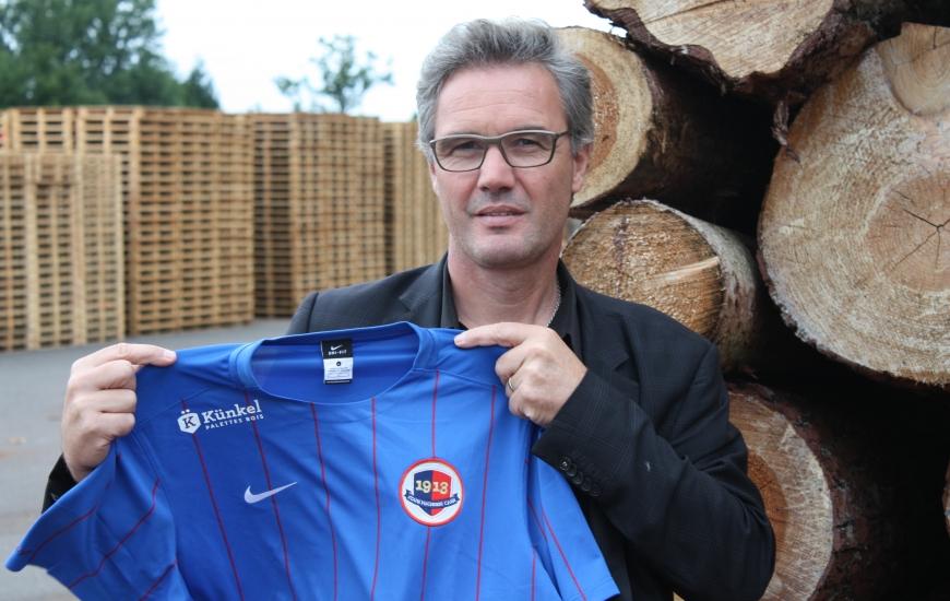 Le sponsoring maillot de l'entreprise Künkel SAS (ici, son président Christophe Künkel) avec le SM Caen sera officialisé le 14 juillet en amont du match contre Le Havre.