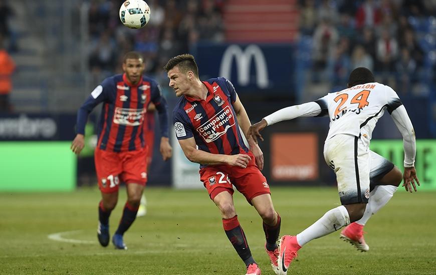 Opéré d'une épaule le 11 avril après se l'être luxée trois jours plus tôt contre Montpellier, Frédéric Guilbert effectue son retour dans le onze de départ caennais un mois plus tard.