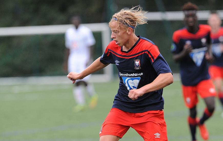 Deux matches chez les U19 pour Joachim Navarre et deux buts pour le jeune attaquant caennais qui fait partie des joueurs surclassés en cette fin de saison.