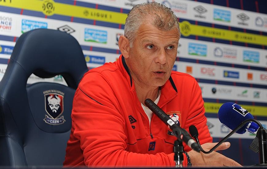 """Contre Rennes, le Stade Malherbe devra être """"plus que jamais équilibré, dans tous les secteurs"""", dixit Patrice Garande. """"Il va falloir faire un match costaud""""."""