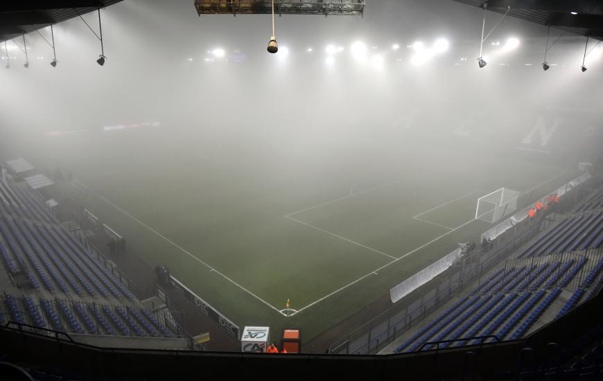 A cause du brouillard, la rencontre entre le Stade Malherbe et le FC Metz qui