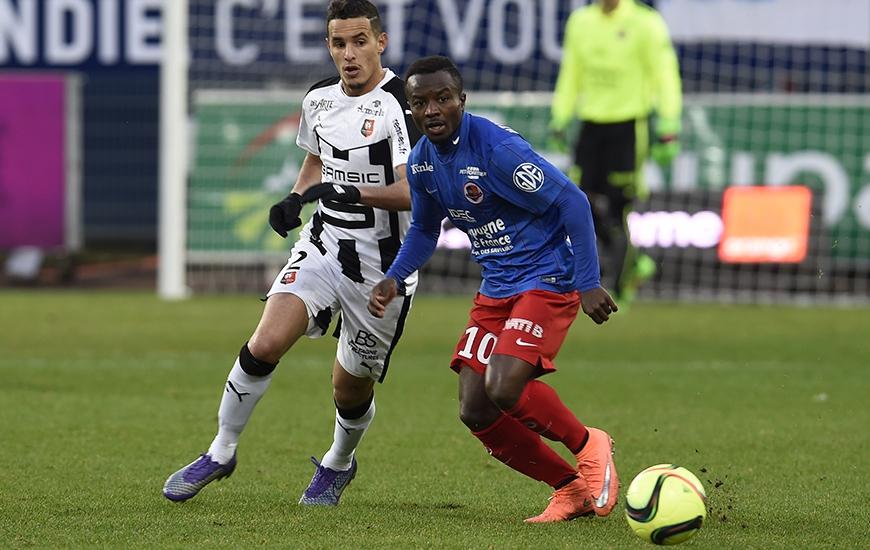 La saison dernière, le Stade Malherbe s'était imposé 1-0 contre Rennes à d'Ornano grâce à l'unique but en Ligue 1 de Saidi Ntibazonkiza.