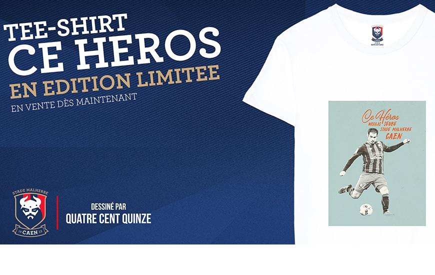 Le tee-shirt édition limitée de Nicolas Seube est disponible sur la boutique en ligne et à la boutique officielle du Stade Malherbe à partir de 14 heures ce dimanche.
