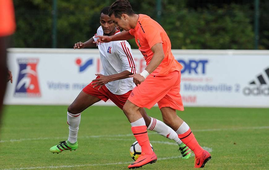 Contre Vire, en match amical, Mohamed Ali Gueddar a inscrit l'un des trois buts caennais. ©Photo d'archives