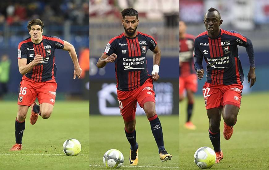Les Caennais Ivan Santini, Youssef Aït Bennasser et Adama Mbengue rêvent de participer au Mondial 2018 en Russie.