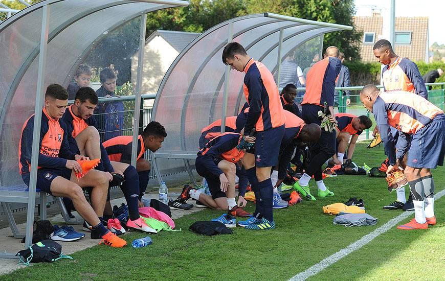 Reprise de l'entraînement ce lundi après-midi pour les Caennais avec en ligne de mire la réception d'Angers, samedi.