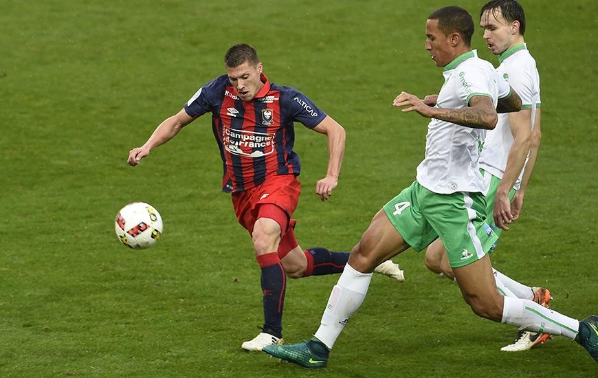 """Pour leur premier match de la saison à d'Ornano, Jonathan Delaplace et les Caennais accueilleront les """"Verts""""."""