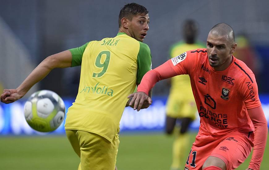 Le Caennais Vincent Bessat et le Nantais Emiliano Sala se recroiseront dimanche 4 février à d'Ornano. Coup d'envoi à 17 heures.